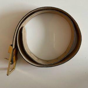 ANNE KLEIN leather belt (orange-brown)